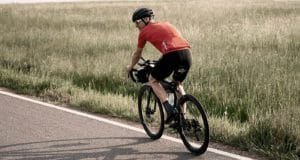 road cyclist getting exercise outdoors after an HTO