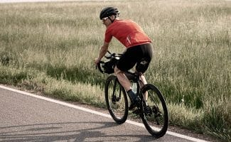 road cyclist getting exercise outdoors
