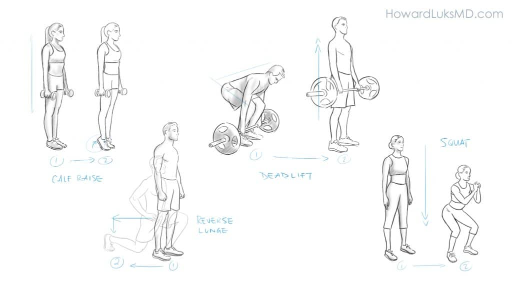 Leg exercise examples