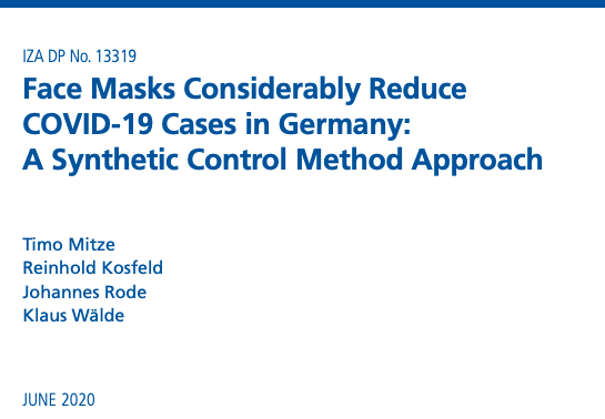Face masks reduce the spread of COVID19